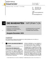 Mandanten-Information Dezember 2020
