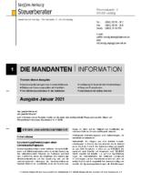 Mandanten-Information Januar 2021