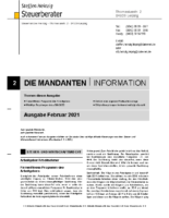Mandanten-Information Februar 2021