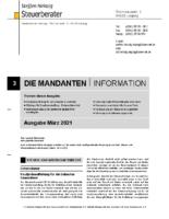 Mandanten-Information März 2021