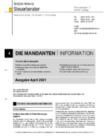Mandanten-Information April 2021