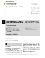 Mandanten-Information Mai 2021