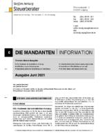 Mandanten-Information Juni 2021