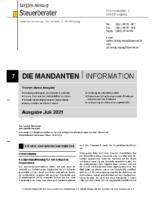 Mandanten-Information Juli 2021